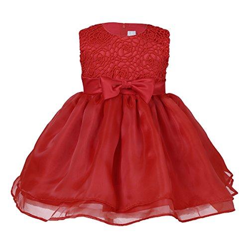 Tiaobug Baby Kleid für Mädchen weiß Taufkleider - Baby Festliche Kleider für Hochzeit...
