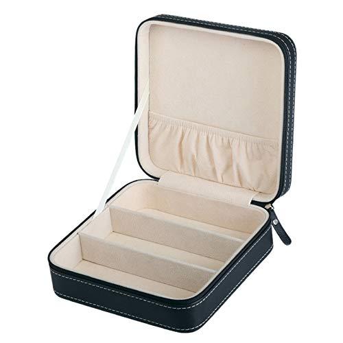 XZANTE Tragbare Pu Leder Sonnen Brille Box Reise Schmuck Aufbewahrungs Box Gitter Kleine Brille Fall Rei?Verschluss Beutel Geschenk Box