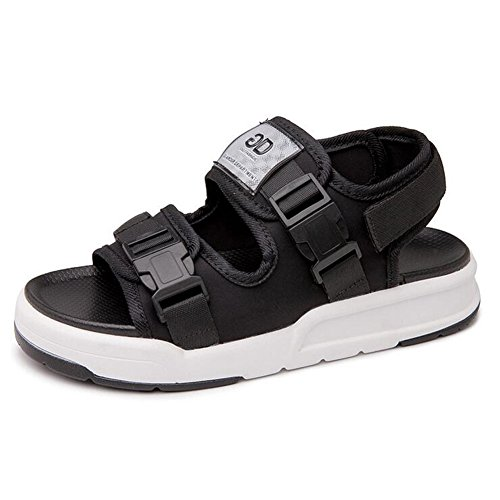 Sommer Strand Geschlossene Sandalen Klettverschluss Outdoor Wanderschuhe Ultraleicht Breathable Schuhe Flach Unisex Kinder Jungen Mädchen Schwarz
