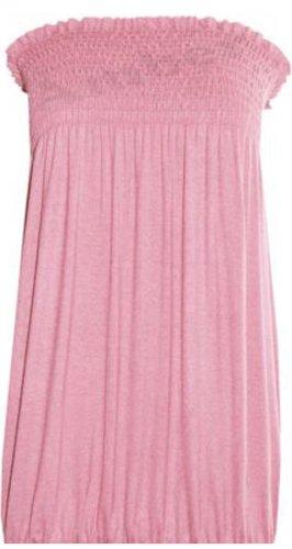 Neue Frauen Plus Size Boob Tube Top Stretch Beisammensein Bandeau Tops Boob Mini 36-54 Baby Pink
