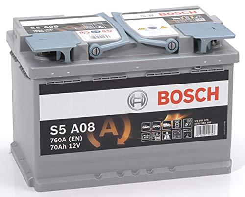 BOSCH 0092S5A080 Batterie AGM 12 V 70 mAh 760 A B13