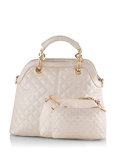 Mark & Keith Women Handbag Cream MBG 041 CM