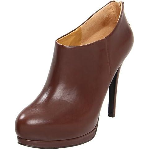 Nine West Haywire - Botas de cuero para mujer marrón natural