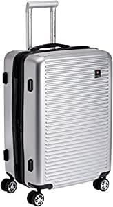 Swiss Military Polyester 38 liters Grey Hard Shell Trolley Suitcase (HTL-6)