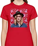 Allen Stone Allenstein-Blumenportrait Floral Portrait Tshirt for Women Short Sleeve Womens T-Shirt with Custom Design Round Neck Womens Jersey Top Clothing 100% Cotton Fabric Tees XX-Large