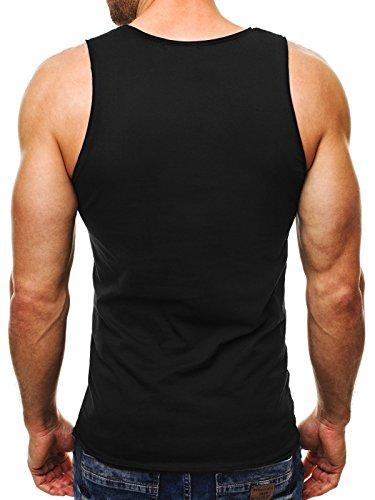 OZONEE Herren Tanktop Tank Top Tankshirt T-Shirt mit Print Unterhemden Ärmellos Weste Muskelshirt Fitness MADMEXT 1323 SCHWARZ XL - 3