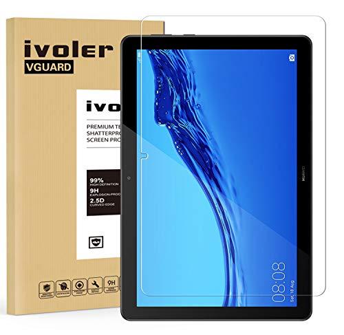 ivoler Verre Trempé pour Huawei MediaPad T5 10.1 Pouces, Film Protection en Verre trempé écran Protecteur Vitre