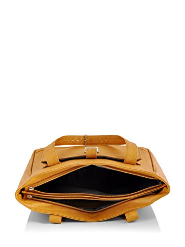 Butterflies Women's Handbag (Mustard) (BNS BS008MSD)