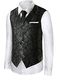 Hanayome - Chaleco - chaqueta - Clásico - Sin mangas - 100 DEN - para hombre