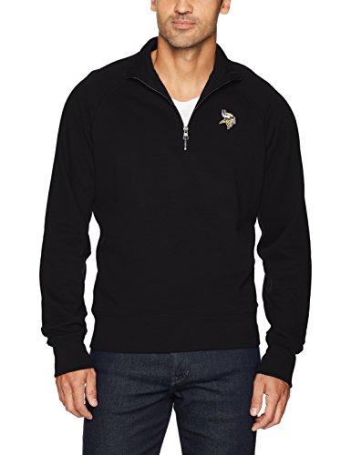NFL Herren OTS Fleece 1/4-Zip Pullover, herren, NFL Men's OTS Fleece 1/4-Zip Pullover, jet black, Small