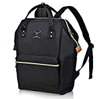 Bebamour Laptop Backpack for Women and Men Laptop Rucksack 15.6 inch Waterproof School Bag Backpack Casual Backpack for Travel/Business/College/Computer (Black)