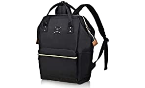 Bebamour Casual Backpack for Women Lightweight Travel Wide Open Back to School Backpack for Women&Men