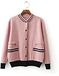 Nuevo elegante manga larga Cardigan Sweater Coat