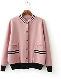 Nuevo elegante manga larga Cardigan Sweater Coat