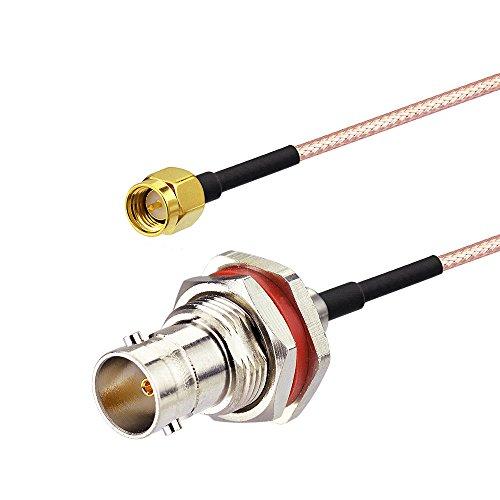 Cb-funk Mobile (Eightwood CCTV Handfunk Antenne Adapter SMA Stecker auf BNC Buchse SMA Kabel RG316 6inch 15cm 2 Stücke für Ham Radio CB Funk Baofeng Wouxun Kenwood Icom Yaesu Zweiweg Radio)