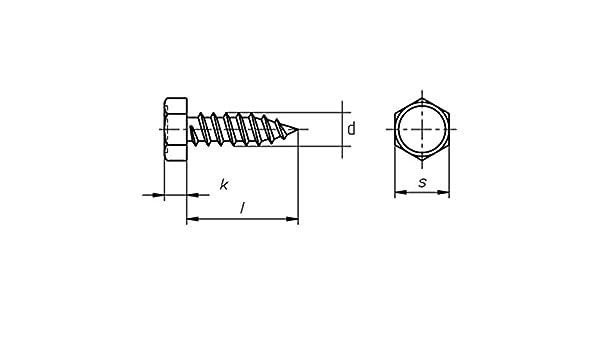 verzinkt Sechskant-Blechschrauben C galv DIN 7976-4,2 x 13-1000 St/ück