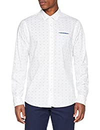 Scotch & Soda Men's Relaxed Fit-Classic Fixed Pochet Casual Shirt