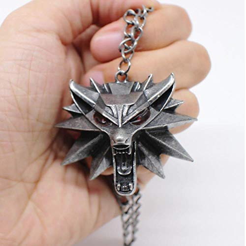 GHJL The Witcher 3 Colgante Collar Animal Head Collar Fiesta de Baile al por Mayor
