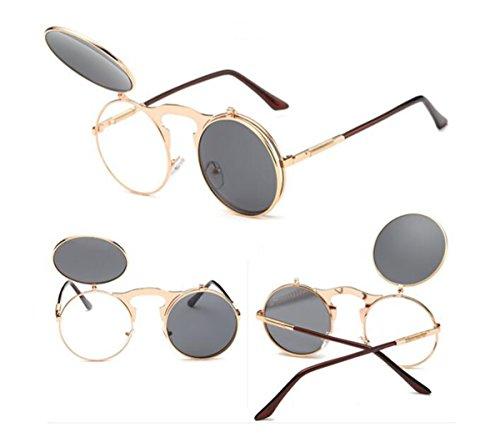 Polarisierte Sport-Sonnenbrille UV400 Schutz Unzerbrechliche Sportbrille mit unzerbrechlichem Rahmen für Männer und Frauen im Angeln Skifahren Fahren Golfen Laufen Radfahren Camping Sport und Outdoor Aktivitäten ( Color : Gold frame (Fancy Dress Weiblich)