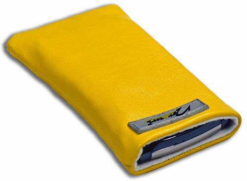 Norrun Handytasche / Handyhülle # Modell Sunja # ersetzt die Handy-Tasche von Hersteller / Modell Samsung SGH-E880 # maßgeschneidert # mit einseitig eingenähtem Strahlenschutz gegen Elektro-Smog # Mikrofasereinlage # Made in Germany