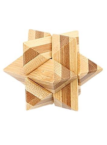 Lalang 3D Puzzle En Bambou Cubes Enfant Bébé Jouets Educatifs (005#)