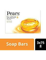 Pears Pure and Gentle Soap, 75g (Pack of 3) with Free 50g