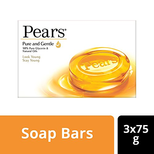 Pears Pure & Gentle Soap Bar, 3 X 75gm)+75g Buy 3 Get 1 Free