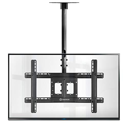 """ONKRON TV Deckenhalterung für 32"""" - 70"""" Zoll Fernseher LED LCD Bildschirmen Fernsehhalterung Halterung VESA 600 x 400 mm N1L Schwarz"""