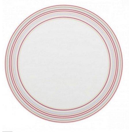 DEGRENNE 227589 Plat à Tarte, Porcelaine, Framboise, 33 x 33 x 2 cm