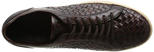 Florsheim Pompei, Baskets mode homme Marron (Dark Brown Woven)