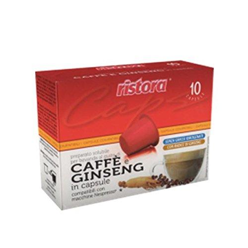 100 cialde capsule compatibili nespresso ristora caffe' e ginseng originali