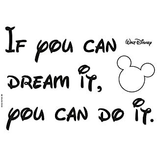 Komar - Disney -  Deco-Sticker YOU CAN DO IT - 50 x 70 cm - Wandtattoo, Wandbild, Wandsticker, Wandaufkleber, Micky Maus, Zitat, Spruch, Dream - 14002h