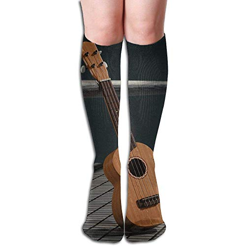 Funny Bag Tube High Knee Sock Boots Crew Piano Compression Socks Long Sport Stockings 19.7in (50cm) -