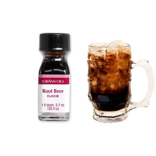 LorAnn Oils Backaroma Root Beer | Liquid Flavour Root Beer | Liquid Aroma | konzentriertes Lebensmittelaroma | Pure Flavour | 1er Pack (3.7ml)