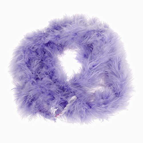 Ouken Light Purple Feather Boa Flauschige Handwerks Dekoration 6,6 Fuß lang