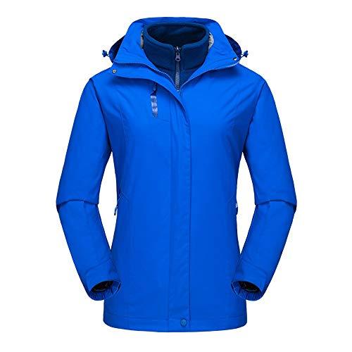 Yocobo tuta da sci caldo giacca antipioggia alpinismo outdoor da donna in due pezzi cappotto sci alpino e invernale ciclismo sportivo 3-in-1 giacca calda antivento e resistente al freddo