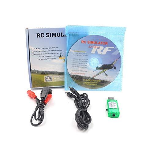 LLHH 20In1 Flight Simulator-Kabel USB-Dongle Für Rc Hubschrauber-Flugzeug-Auto-Spielwaren Transparent