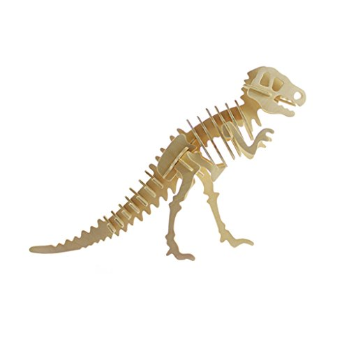 Juego Rompecabezas 3D Puzzles de Madera Figura Tiranosaurio