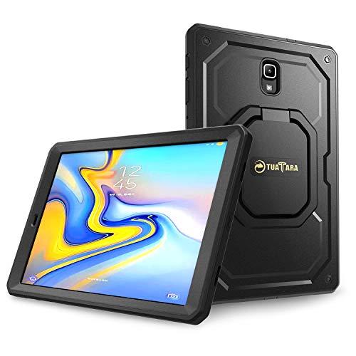 Fintie Stoßfeste Hülle für Samsung Galaxy Tab A 10.5 SM-T590/T595 Tablet-PC - [Tuatara Magic Ring] [360-Rotating] Multifunktionale Stand mit Griff Schutzhülle mit eingebauter Schutzfolie, Schwarz - Ring Griff-patent-tasche