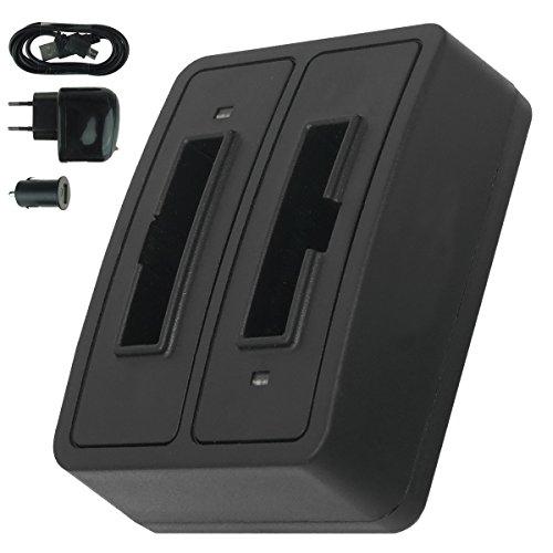 Caricabatteria doppio (USB/Auto/Corrente) BA-300 per Sennheiser RI 410 (IS 410), RI 830 (Set 830 TV), RI 830-S, RI 840 (Set 840 TV), RI 900, RR 4200. - v. lista