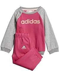 adidas - Ensemble - Bébé (Fille) 0 à 24 Mois Multicolore Rose Gris 19b5953ef6b