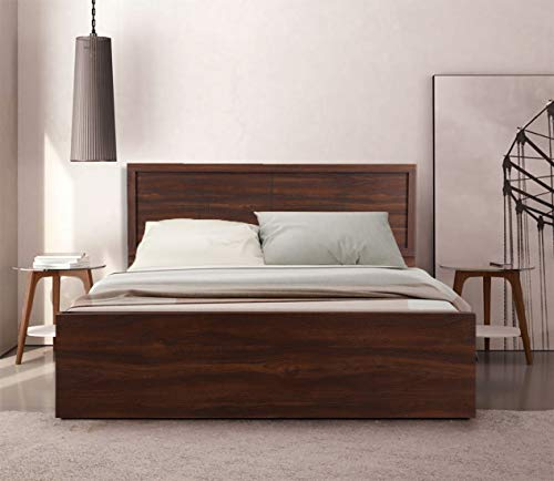 HomeTown Alana Queen Size Engineered Wood Bed With Box Storage (Particle Board - Cocorica)