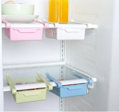 Vinallo 4 Couleurs Réfrigérateur Congélateur Tiroir Coulissant Support de Rangement