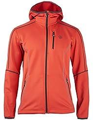ternua Capucha Chaqueta karjiang Talla M Color Naranja Rojo Hoodie poliéster 1642662 UVP 99,95 euros