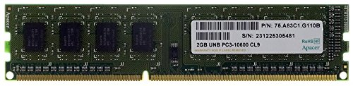 Memoria RAM de 2 GB Apacer UNB PC3 - 10600 CL9 P/N 75.a83 C1.g110b SO-DIMM id16509