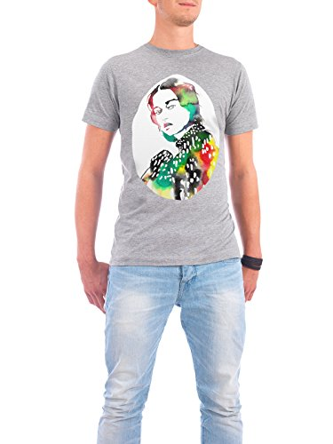 "Design T-Shirt Männer Continental Cotton ""Ink Glitter Fashion"" - stylisches Shirt Abstrakt Menschen Fashion von Sarah Plaumann Grau"
