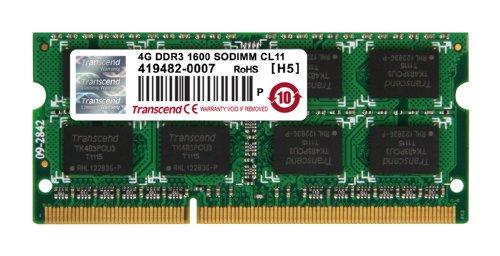 Transcend 4GB DDR3 1600 Laptop RAM