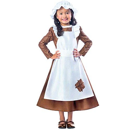 Viktorisches Mädchen Kinderkostüm 3-4 Jahre / - Viktorianisches Straßenkind Kostüm