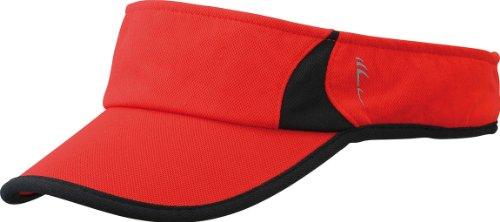 Running Sunvisor, red/black, One size, MB6545 rdbl ()