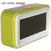 Sonline Touch-LCD-Digital-Wecker LED-Licht Snooze Hintergrundbeleuchtung Digit Zeit Kalender - gruen preisvergleich bei billige-tabletten.eu